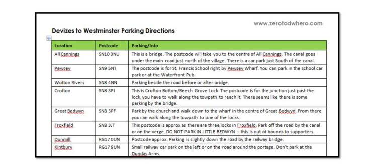 Parking directions picture